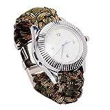 1stモール パラコード搭載 電熱式 シガー 腕時計 タバコ 緊急ロープ 高級デザイン 着火 ライター ST-HY-SAVAIVA