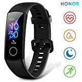 "HONOR Band 5 Fitness Trackers Activity Trackers 0.95"" AMOLED Color Display Smart Watch Real-time Heart-rate Monitor Sleep Monitor 50M Depth Waterproof Bluetooth 4.2, Black"