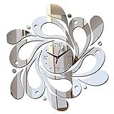 ミラー ウォール アートアクリル 壁時計 ステッカー クォーツ 時計 モダン 装飾 時計