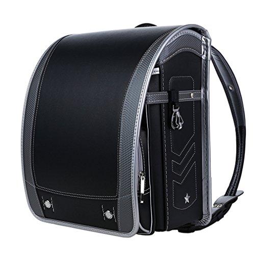 【Coulomb・クーロン・技術型】2018年度デザイン男の子向けランドセル school bag 6年品質保証付き (101 BK)