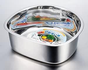 ステンレス D型洗い桶 V-1440