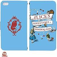 Alice's Adventures in Wonderland 手帳型 HUAWEI P20 lite(ANE-LX2J)(G004101_01) 専用 アリス pop art センス 個性的 スマホケース