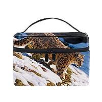 動物ユキヒョウコスメバッグ 化粧ポーチ メイクバッグ ギフトプレゼント用 携帯可能