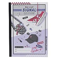 英語ノート[LUV SIGNAL]B5 英習帳/15段 クラックス 文具 かわいい グッズ 通販