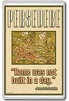 頑張れローマは日動機付けの引用に組み込まれていませんでした冷蔵庫用マグネット
