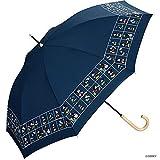 ワールドパーティー(Wpc.) ディズニー雨傘 長傘 ネイビー 55cm レディース ミッキー&ミニー/パネル DS073-09 NV