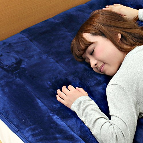 京都西川 敷きパッド カラーフランネル なめらかな肌触り 日本製 洗える あったか シングル 100×205cm ネイビー 2NGC6403S