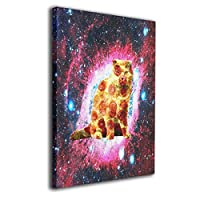 Galaxy Funny Pizza Cat Wall Art Decor Poster Artworks Painting Print Artwork For Living Room Bedroom Home Interior Decorations None Frame Ready To Hang 40cmx50cm
