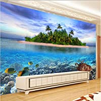 Lcymt カスタム3D写真壁画壁紙シーサイド風景不織布リビングルームテレビの背景の装飾現代の壁絵画-200X140Cm