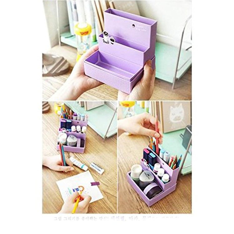 Zixmat(TM) の新DIY紙ボード収納ボックスデスクインテリア文具のメイクアップ化粧品オーガナイザー収納ボックスC1