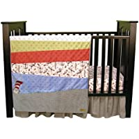 Dr。Seuss The Cat in the Hatベビー寝具コレクションbyトレンドラボ 3 Piece Crib Set 30019