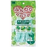 (まとめ) オカモト ふんわりやわらか天然ゴム手袋 L グリーン OK-1L-G 1セット(10双) 【×5セット】 ds-1577343