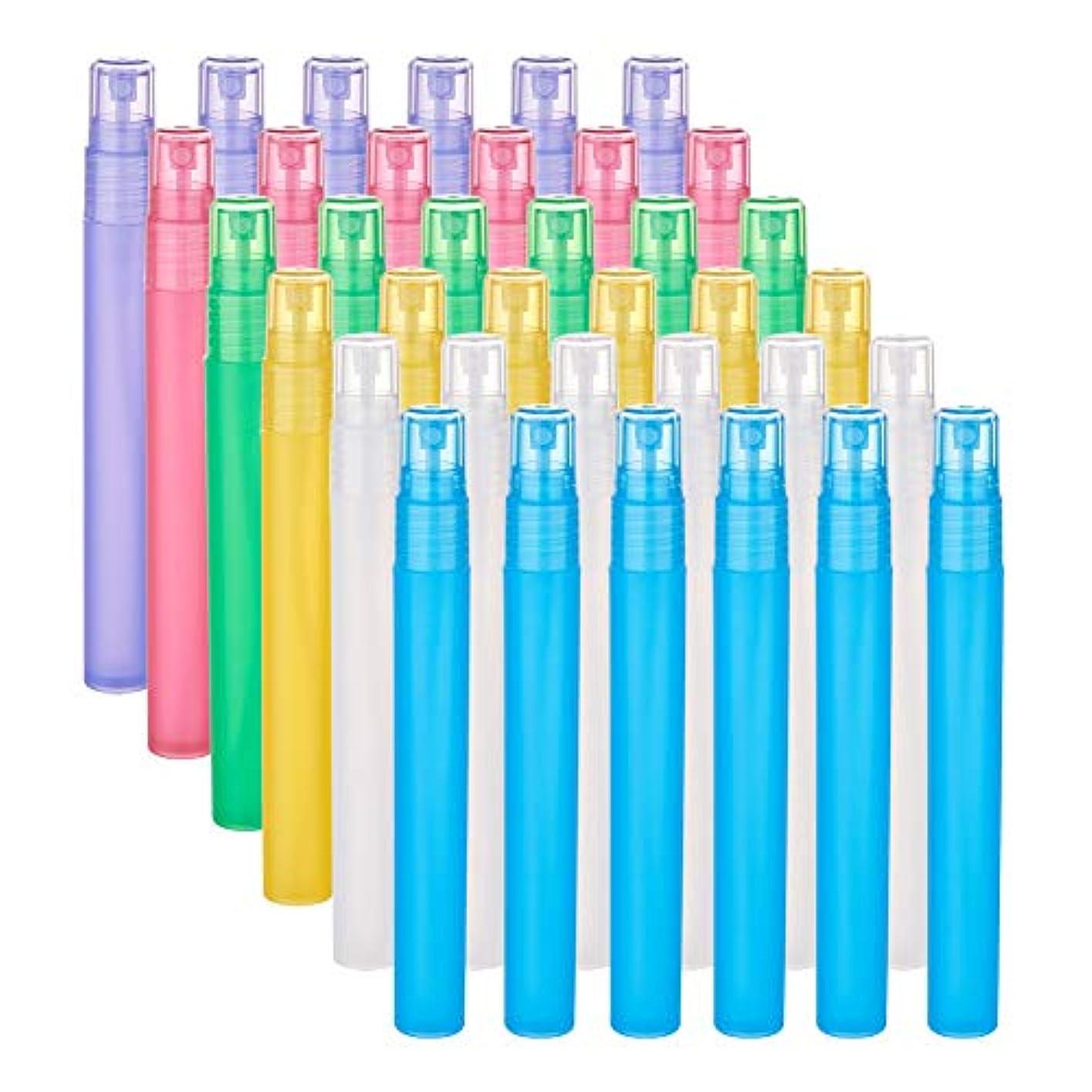 北群れいろいろBENECREAT 24個セット15ml香水スプレーボトル 6種色 プラスティック製 極細ミスト 香水 化粧水 コスメ小分けボトル 詰め替え