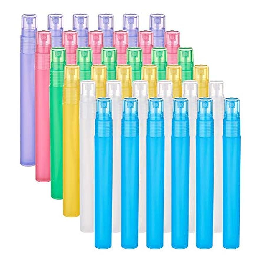 大きい割れ目長々とBENECREAT 24個セット15ml香水スプレーボトル 6種色 プラスティック製 極細ミスト 香水 化粧水 コスメ小分けボトル 詰め替え