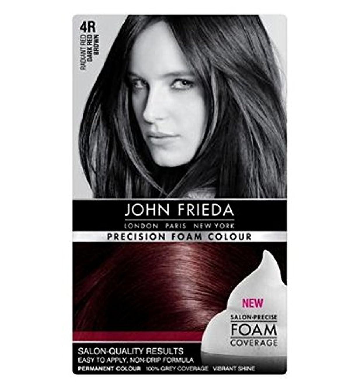 スムーズにバンジージャンプうまくいけばジョン?フリーダ精密泡カラー4R濃い赤茶色 (John Frieda) (x2) - John Frieda Precision Foam Colour 4R Dark Red Brown (Pack of 2) [並行輸入品]