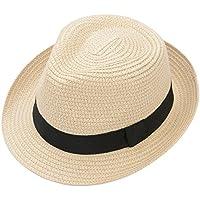 (ムコ) MUCO 麦わらハット 折りたたみ可能 メンズ 帽子 ストローハット 中折れハット 通気 つば広 無地 ミックスペーパーハット パナマ帽 春夏 男女兼用 速乾 快適