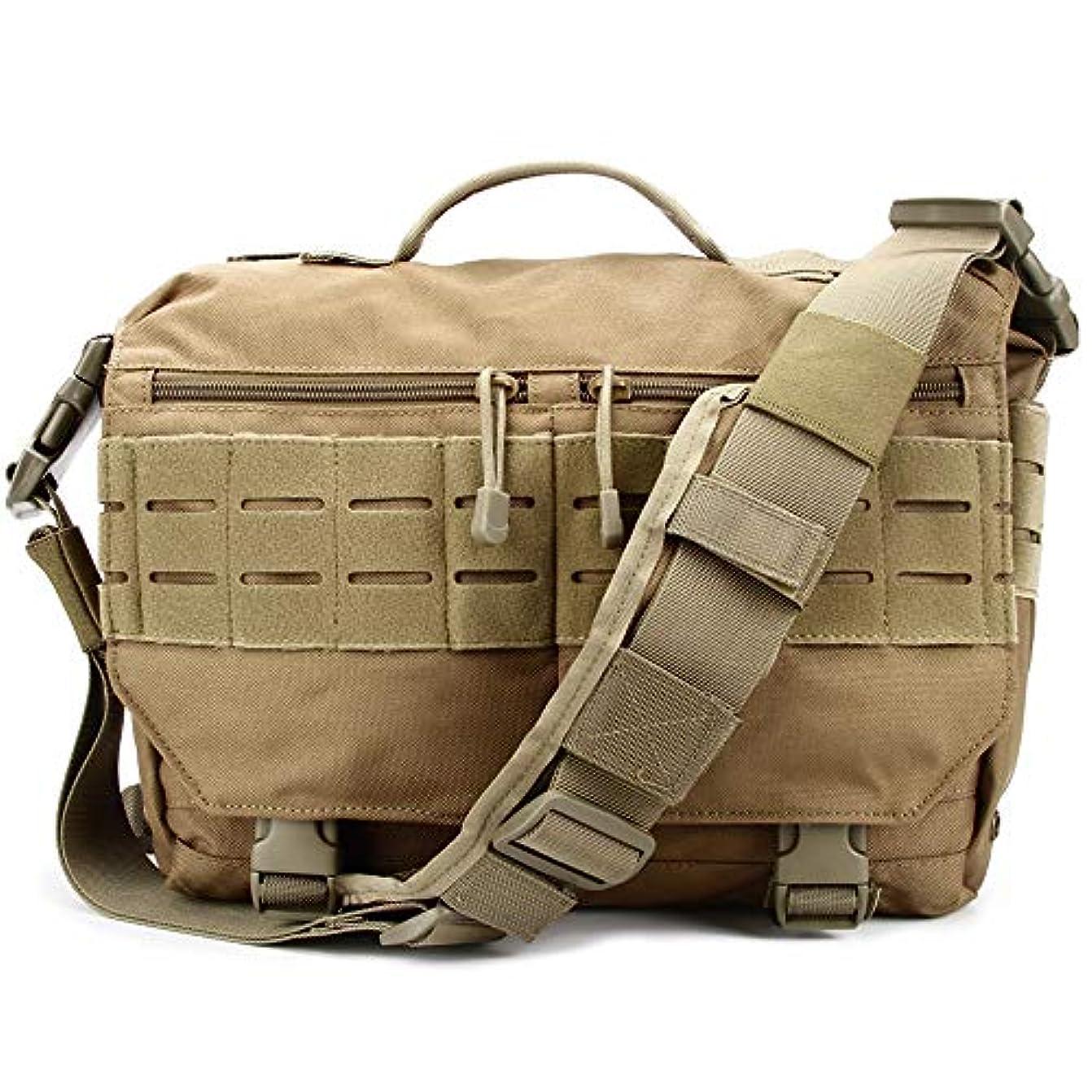 優しい旅行肌寒いTrivol ミリタリー EDC メッセンジャーバッグ タクティカルノートパソコンショルダーバッグ 多機能ハンドバッグ 日常の携帯 MOLLE対応