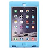 iPad Air1 / Air2 case ケース シリカゲル スタンド機能 エッジプロテクター 通気性いい パステルカラー iPad Air1 / Air2 case ケース アイパッド TYEC-152935 ブルーAir2