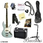 【初期調整済みですぐ弾ける!】 Bacchus バッカス BJB-1 オリジナルエレキベースセット (SOB) ソニックブルー