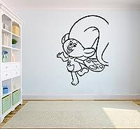 デザインTrolls壁ビニールデカールホーム内部ステッカーキッド部屋グラフィック子寝室アップリケtrolls10