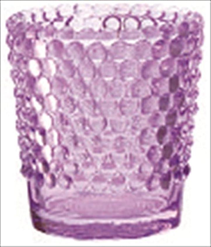 状態アルコールデータカメヤマキャンドル( kameyama candle ) ホビネルグラス 「 アメジスト 」