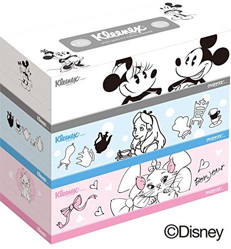 クリネックス ティシュー ディズニーキャラクター 320枚(160組) 3箱パック