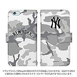 iPhone7 手帳型 ケース [デザイン:20.NY・迷彩(グレー)] ニューヨークヤンキース iphone7 スマホ 手帳 カバー