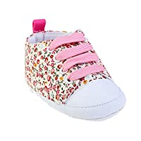 Zhhlinyuan 安定した品質 ベビー Breathable Canvas Sneaker Antiskid Soft Cute Casual Toddler Shoes