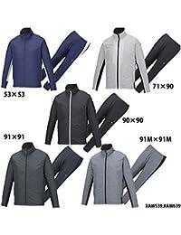 【アシックス】ウインドジャケット&パンツ 上下セット/ウィンドブレーカー(XAW539 XAW639)90×90 ブラック/ブラック XO