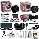 25ピース高度なレンズパッケージfor the Panasonic Lumix DMC - fz100dmc-fz40& dmc-fz45デジタルカメラIncludes 0.43X hd2広角パノラママクロ魚眼レンズレンズ+ 2.2X HD AF望遠レンズ+ 3Piece ProフィルタキットUV、CPL、FLD+ 6PieceマルチカラーGraduated Filter Set + 5PCクローズアップセット(+ 1, + 2, + 4with 10xマクロレンズ) +フラワーレンズフード+チューブアダプタ+デラックスレンズクリーニングキット+ 5pcレンズクリーニングペン+スナップオンレンズキャップ+送風機クリーナー+レンズキャップキーパーホルダー+ LCDスクリーンプロテクター+