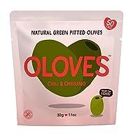 Olovesチリ&オレガノのマリネは、グリーンオリーブの30グラムをピットイン - Oloves Chilli & Oregano Marinated Pitted Green Olives 30g [並行輸入品]