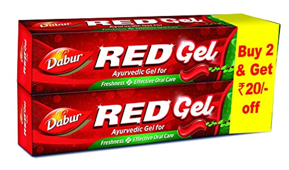 飾り羽輝度パドルDabur Red Gel - 150 g (Pack of 2)