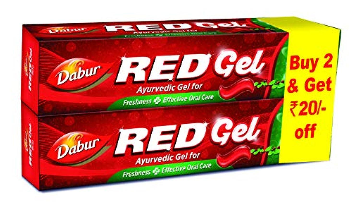 レバー外交半島Dabur Red Gel - 150 g (Pack of 2)