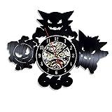 ポケモンギフト壁時計ビニールレコードウォールクロック-現代の手作りアートであなたの家を飾る
