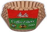 Melitta [メリタ] 8から12カップ用 バスケットタイプ コーヒーフィルター 200枚 Basket Coffee Filters Natural Brown (8 to 12-Cup) 200-Count Filters 【並行輸入品】