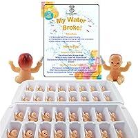 My Water Broke ベビーシャワーゲーム 小さな赤ちゃん用 アイスキューブ用 32人用 ホワイト