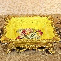 クリエイティブな灰皿ヨーロッパスタイルの装飾は、ボーイフレンドを送信する高品位の樹脂装飾ギフトゴールド豪華な