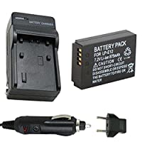 バッテリーと充電器for Canon LP - e127.2V Li - Ion 875mAh充電式バッテリーパック