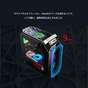 COOLMAN 美しい4面強化ガラス仕様 ミドルタワー RGBファン6個搭載 PCケース 【 ATX / MicroATX 水冷 対応】