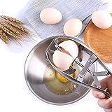 新しい卵の殻割り ステンレス鋼 卵カッター 卵割り器 卵割り機 手動 卵割装置 エッグシェルブレーカー 操作便利 キッチンガジェット