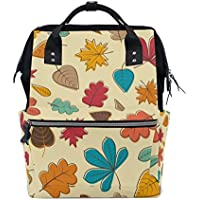 ママバッグ マザーズバッグ リュックサック ハンドバッグ 旅行用 秋の葉柄 ファション