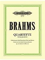 Quartette fuer vier Solostimmen und Klavier op. 31, 64, 92, 112/1,2: oder gemischten Chor
