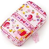 お食事セット用ポーチ 赤ちゃん 外出 日本製 お花大好きプリティ動物フレンド(スケアー地?ピンク) B2403900