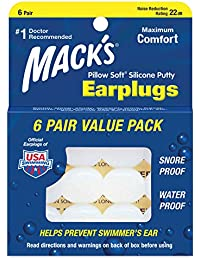 マックスピロー(Macks Pillow) シリコン ソフト 耳栓 NRR22【正規輸入品】