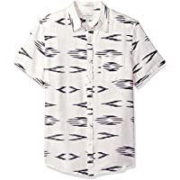 Lucky Brand Men's Casual Short Sleeve Printed Workwear Button Down Shirt