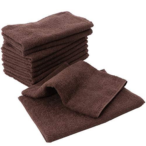 泉州タオル(Senshu-towel) 業務用 泉州フェイスタオル 260匁 10枚セット ダークブラウン 日本製 泉州タオル 瞬間吸水 速乾 B07JW55WLM 1枚目