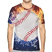 スポーツ燃えるような野球 XXL Tシャツ トップス クルーネック みんな スポーツシャツ 半袖 シンプル 個性 無地 おしゃれ アウトドア 春夏 ハイクオリティー ライトウェイト