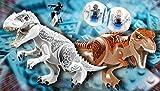 インドミナス ティラノレックス 恐竜 フィギュア 大型 2体 乗り物 ミニフィグ2体 SWAT ミニフィグ1体セット