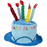 Plush Happy誕生日パーティーケーキNovelty Top Hat withキャンドル