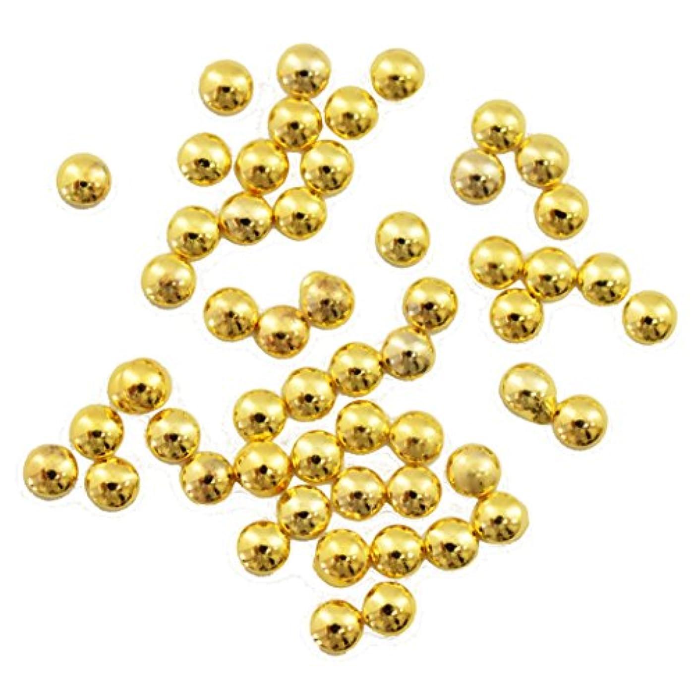 に応じて染料ジェットBuddy Style 丸 スタッズ メタルパーツ ネイルパーツ デコパーツ ゴールド1.5mm 50個入り